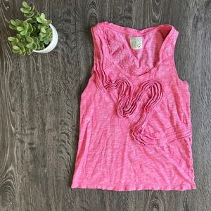 {Anthropologie: Little Yellow Button} Pink Tank